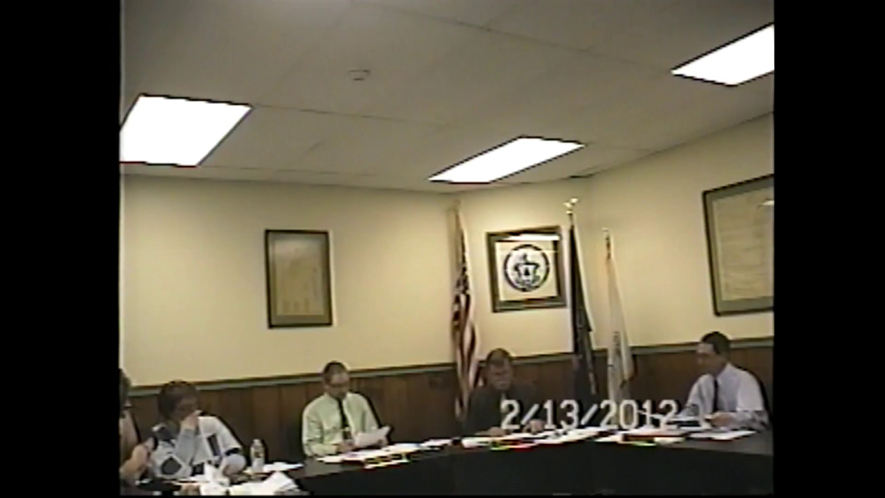 Champlain Village Board Meeting  2-13-12