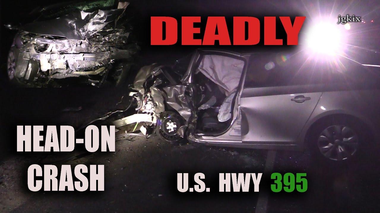 U S  HWY 395 Head On Fatal Crash