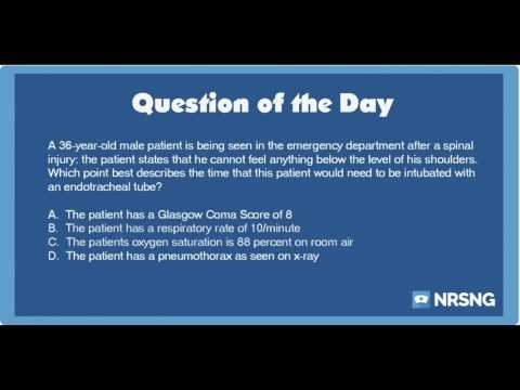 NCLEX Practice Questions: Breathing Difficulties in a Patient with Spinal Cord Injury (Neuro)