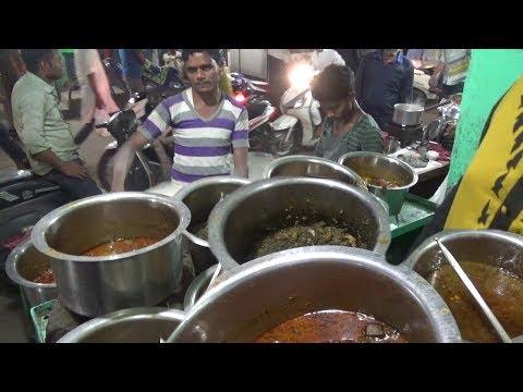 Delhi Street Food   Roti with Varieties Curry 40 rs Per plate