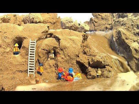 LEGO Miner In Danger By The Dam Breach...