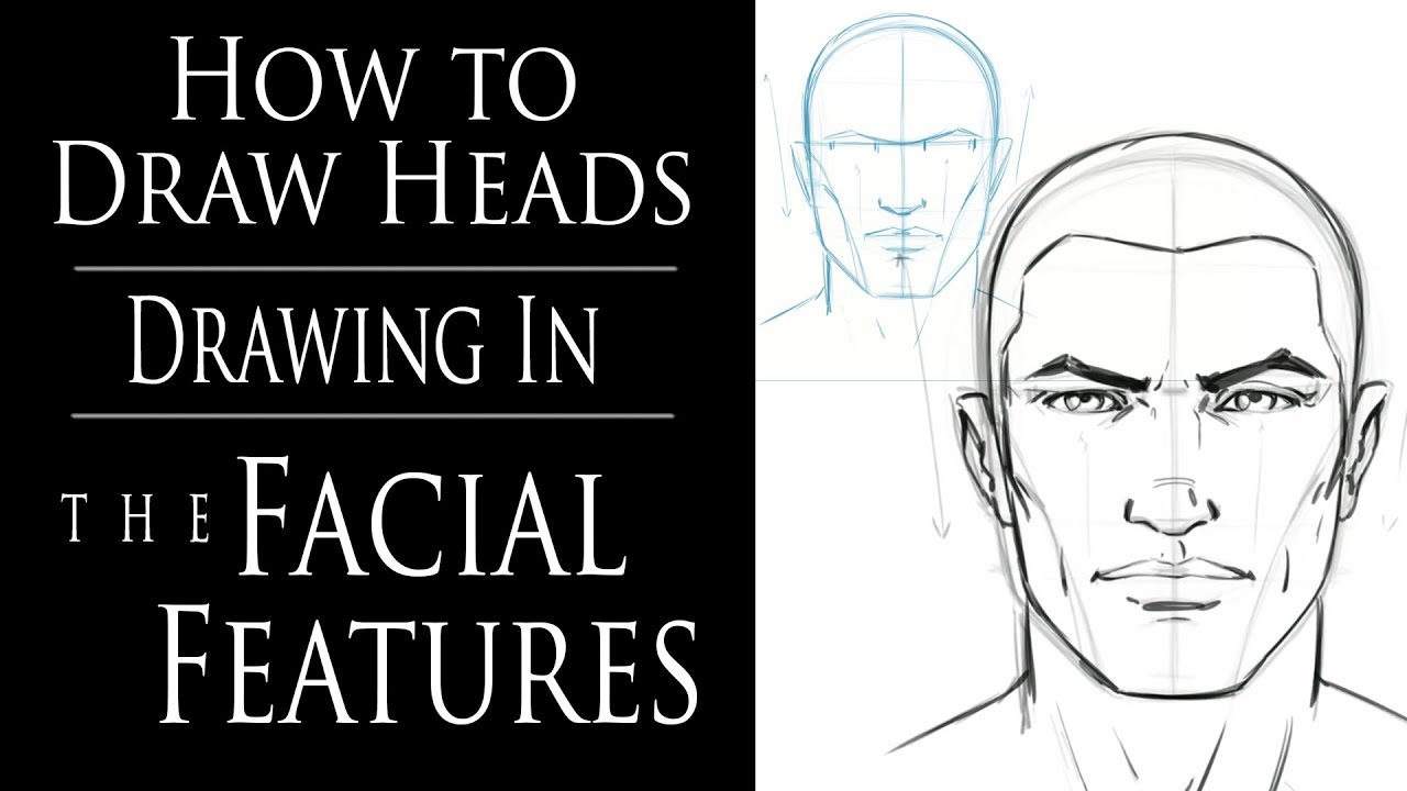 Instructions for drawing each facial feature