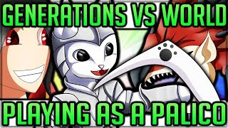 Playing as a Palico/Prowler in Monster Hunter World! (Monster Hunter Generations Ultimate VS World)