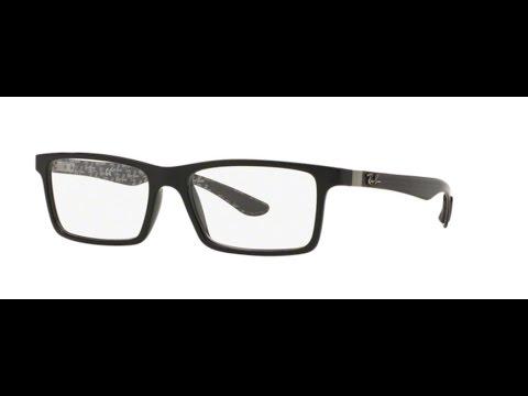 7c4fb7faa8 Ray Ban RX8901 Eyeglasses 5610 TOP BLACK ON SHINY GREY - YouTube