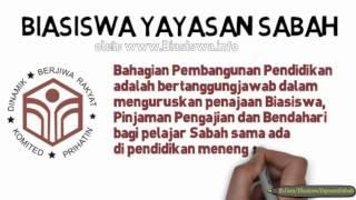 Biasiswa Yayasan Sabah 2014 - 2015 | Biasiswa Kerajaan Negeri Sabah