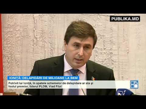 Veaceslav Ioniţă îl acuză pe Vlad Filat că ar sta în spatele delapidărilor de la BEM