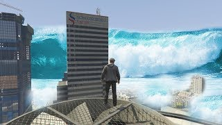 GTA 5 - MEGA Tsunami INUNDAÇÕES Los Santos!