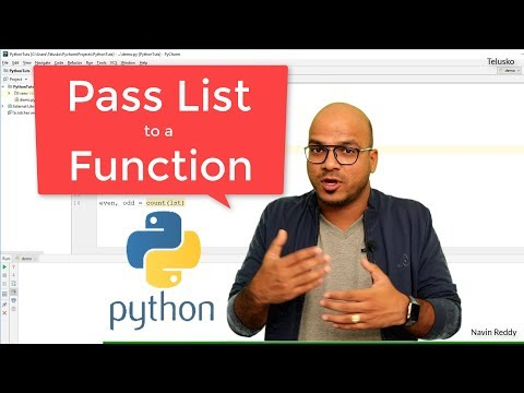 #37-python-tutorial-for-beginners- -pass-list-to-a-function-in-python