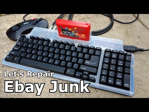 Let's Repair - Ebay Junk - Famiclone Keyboard - Crunchy Keys