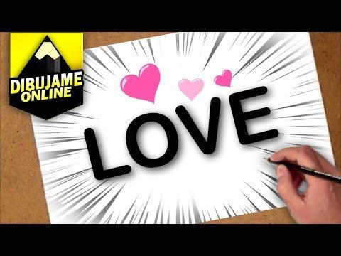como transformar la palabra love en un dibujo | transformar love em desenho