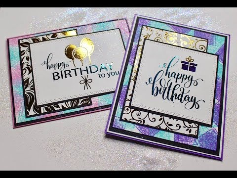 Making My Own Birthday Card Youtube