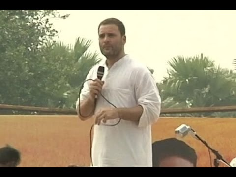 I asked Modiji to protect farmers: Rahul Gandhi at Khaat Panchayat