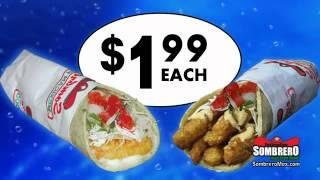 Sombrero's Baja-style Fish & Calamari Tacos For Just $1.99