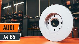 Se en videoguide om hvordan du skift AUDI A4 Bremseklosser