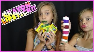 ↪ CRAYON LIPSTICK | DIY | CRAZY COLORS!! | MAKEUP MONDAY EP 9 | SMELLYBELLYTV