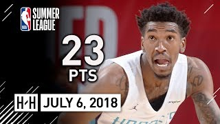 Malik Monk Full Highlights vs Thunder (2018.07.06) Summer League - 23 Pts, COLD!