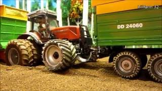 Rc Tractor Action - MASSEY FERGUSON & FENDT IN THE MUD - Fun with Rc Toys