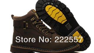 Покупка онлайн из Китая №100 Зимние ботинки фирмы CAT