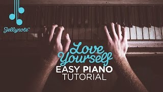 Love Yourself by Justin Bieber - Easy Piano Tutorial (Jellynote Lesson)