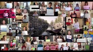 "Children of Amsterdam sing ""Aan de Amsterdamse Grachten"" in times of Covid 19"