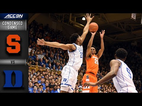 Syracuse vs. Duke Condensed Game | 2018-19 ACC Basketball