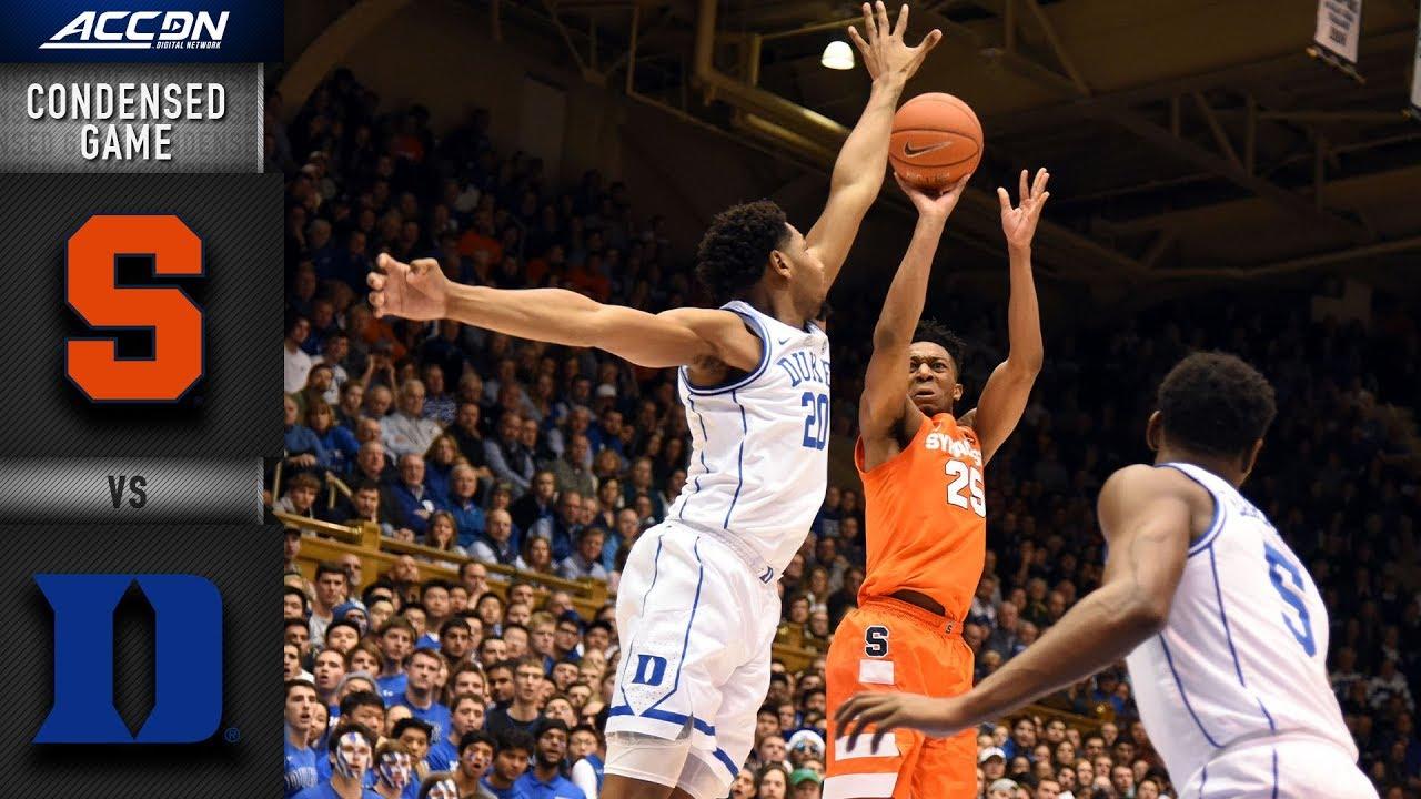 Syracuse vs  Duke Condensed Game | 2018-19 ACC Basketball
