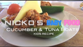 TUNA & CUCUMBER SAIL BOATS - Kids Recipe Thumbnail