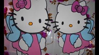 Como hacer figuras de foami grandes HelloKitty