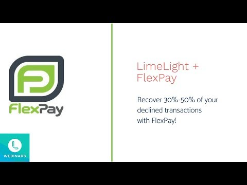 Recover 30%-50% of your declined transactions with FlexPay!