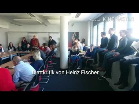 """Heinz Fischer als Blattkritiker bei der """"Wiener Zeitung"""""""