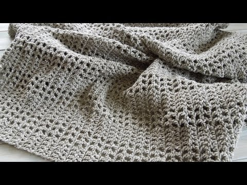 (crochet) How To - Crochet an Afghan/Baby Blanket/Throw - Yarn Scrap Friday