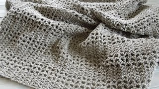 I may be stretching the 'yarn scrap' theme this week but hopefully you will enjoy joining me as I show you how to make an afghan, baby blanket or throw.