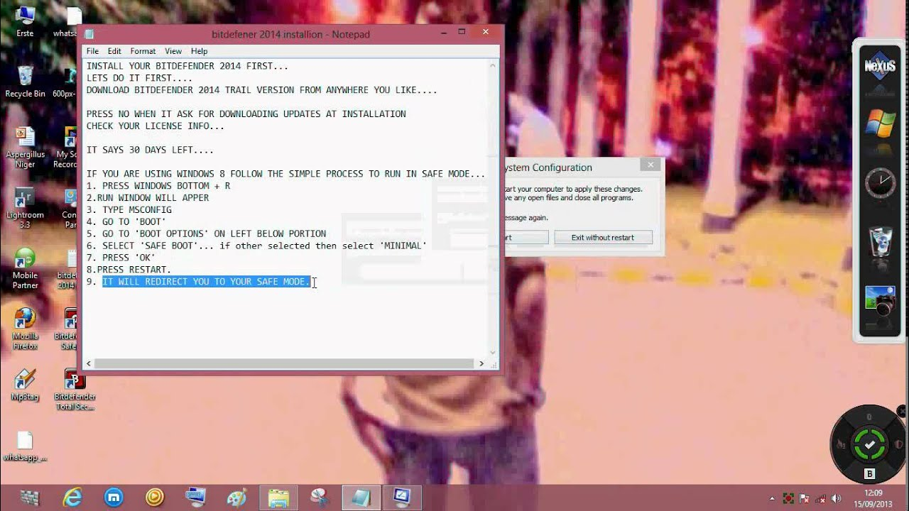 Make bitdefender total security 2014 full version also supports windows 8