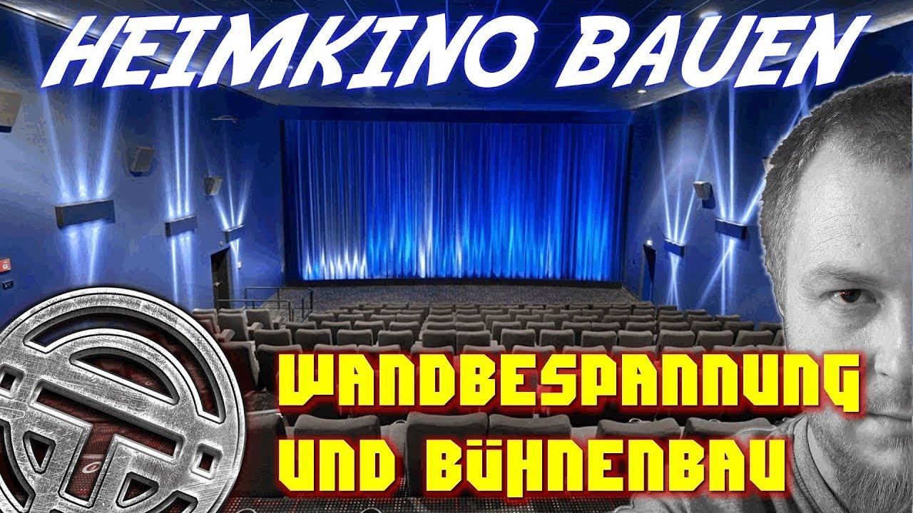 HEIMKINOBAU - TEIL 6 - Wandbespannung und Bühnenbau - YouTube