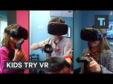 Thumbnail: Watch kids try virtual reality for the first time