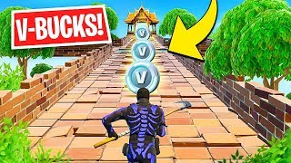 "NEW ""V-BUCKS COURSE"" mode by FORTNITE! Fortnite Challenge & ITA Challenges"