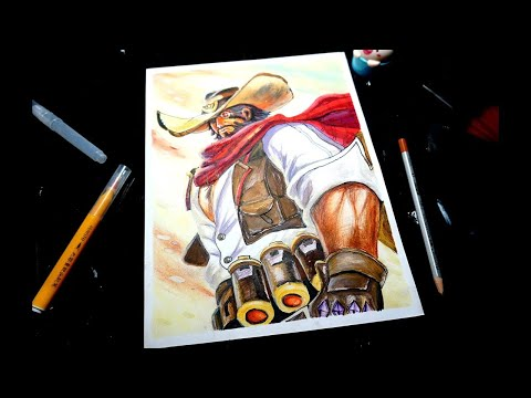Vẽ tướng liên quân Ryoma thợ săn tiền thưởng - Cẩn Art