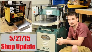 Shop update: 5/27/15 : Laundry Cabinets and Planer