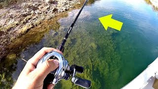 Fishing ULTRA CLEAR Water for Spring Bass!!!