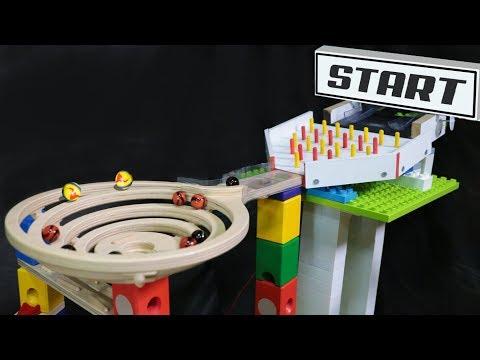 Amazing marble race: Cyclone QUADRILLA - mini tournament elimination marble run