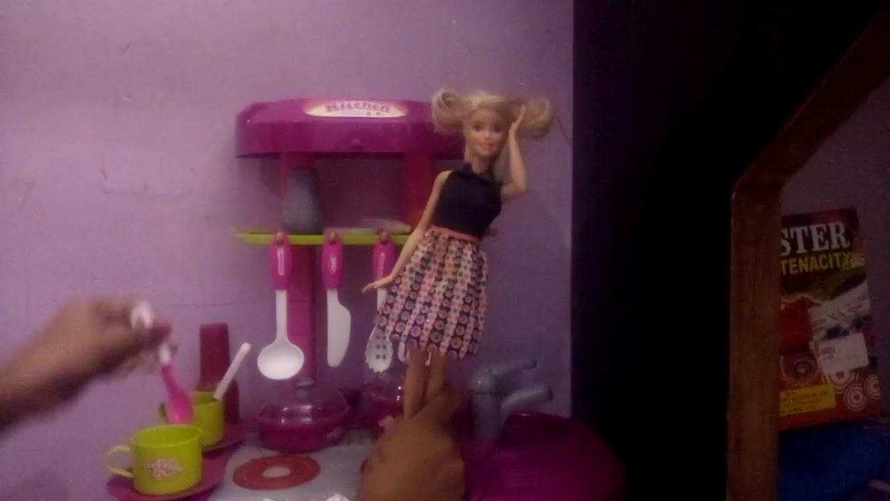 Barbie Kitchen Set Video Youtube