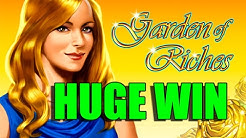 Online slots BIG WIN 8 euro bet - Garden of Riches HUGE WIN with epic reactions