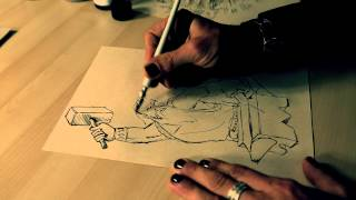 """Drawing with Groove-  """"a Blacksmith"""" by Roger Horvath"""