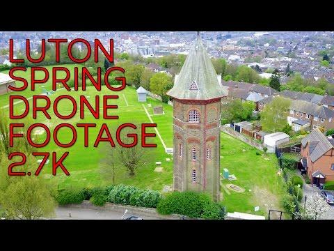 LUTON SPRING 2017 DRONE FOOTAGE 2.7K DJI MAVIC PRO