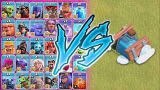 ALL TROOPS Vs. FREEZE TRAP!!😀WHO IS FASTER!!🔸Clash of clans troll