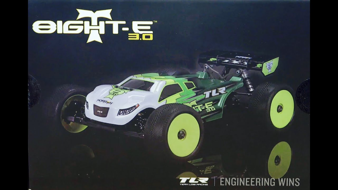TEAM LOSI RACING 8IGHT T E 3 0 Electric Truggy Kit TLR UNBOXING