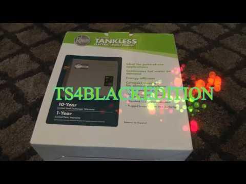 ecosense tankless water heater manual