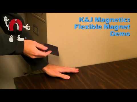 K&J Magnetics - Refrigerator Magnet Demo