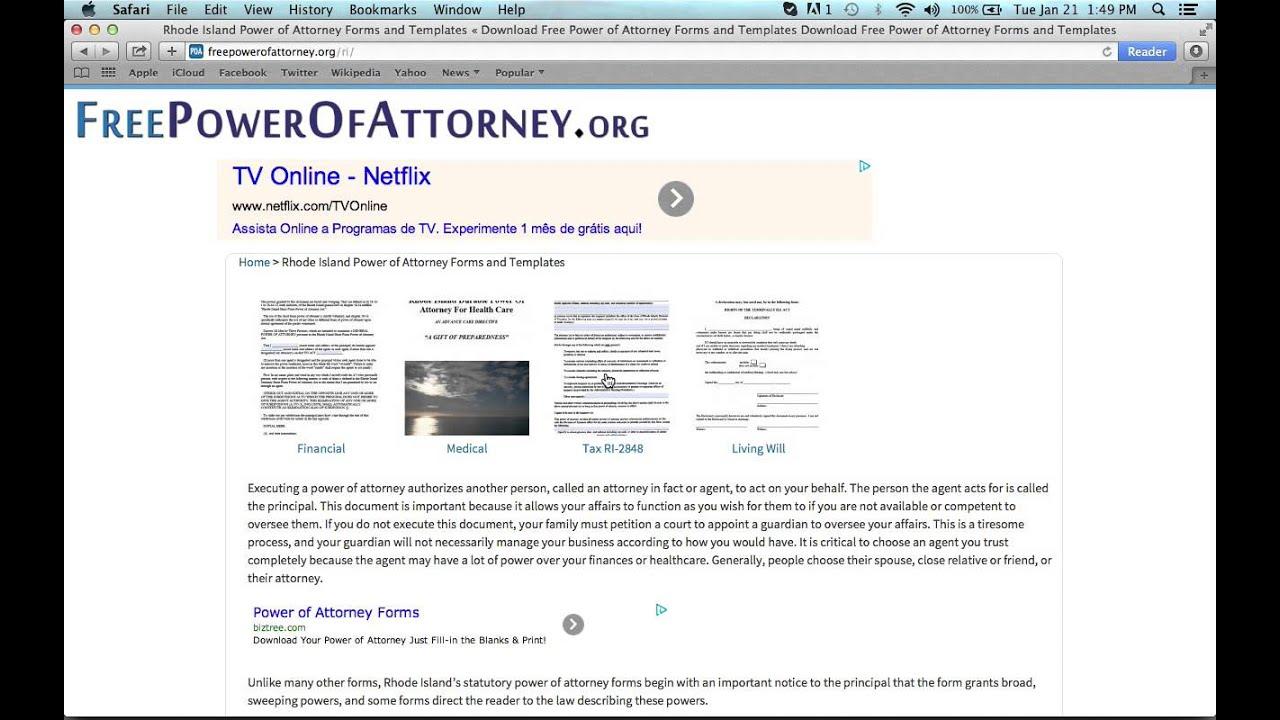 How to write a rhode island power of attorney form youtube how to write a rhode island power of attorney form falaconquin