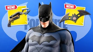 *NEW* BATMAN is HERE in Fortnite! (Skins, Weapons + Map)